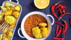 Jak na květák pečený v troubě Chana Masala, Tandoori Chicken, Treats, Ethnic Recipes, Food, Sweet Like Candy, Goodies, Eten, Meals