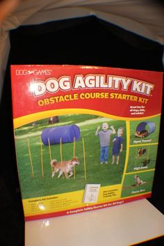 Dog Games Agility Starter Kit with Tunnel, Poles, and Obstacles, Kyjen DG40100 #Kyjen
