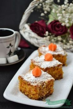 Prajitura cu Morcovi de Post Vegan Sweets, Vegan Desserts, Raw Vegan Recipes, Vegan Life, Sweet Recipes, Deserts, Good Food, Food And Drink, Baking