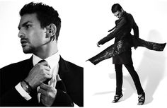 Photography Jean-Baptiste Mondino ; On the left Givenchy by Ricardo Tisci ; on the right Rick Owens .