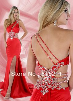 Details about Sexy Women Strap Lace Embroidered Slit Corset Prom ...