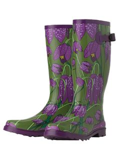 Wellies Boots - Womens Wellies in Fun Patterns Wellies Boots, Shoe Boots, Garden Boots, Creative Shoes, Purple Shoes, Wellington Boot, Cool Patterns, Sock Shoes, Green And Purple