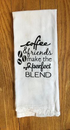 Coffee Themed Kitchen Towel/Flour Sack/Tea Towel/Dish Towel – Cute and Trend Towel Models Kitchen Hand Towels, Dish Towels, Tea Towels, Kitchen Vinyl, Kitchen Signs, Towel Embroidery, Machine Embroidery, Embroidery Ideas, Coffee Theme Kitchen