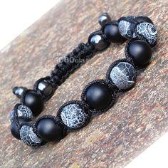 Mode tendance Bracelet Homme Style Shamballa Perles Ø 10mm
