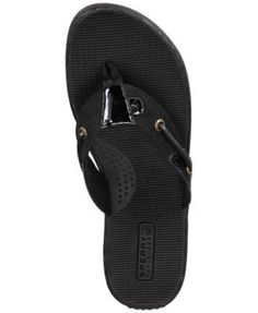 Sperry Women's Seafish Thong Sandals - Black 6.5M