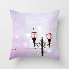 Lamplight of Cotton Candy Dreams Throw Pillow by Lisa Argyropoulos - $20.00