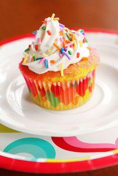 little Dues: Recetas y Comidas - Cupcakes de colores
