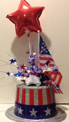 July 4th centerpiece! I made this for a July 4th pig roast as a centerpiece on all our tables!...big hit!!