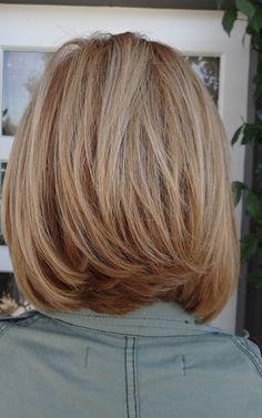 medium length hair. Love the cut @cheryl ng ng Lynn this is what you need in the back!!