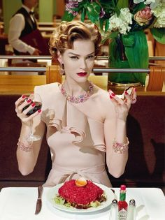 'A Precious Glam' - Vogue Italia March 2011 Model: Carmen Kass Photographer: Miles Aldridge Carmen Kass, Foto Fashion, Fashion Beauty, Style Fashion, Vogue, New Yorker, Miles Aldridge, Idda Van Munster, Ladies Who Lunch