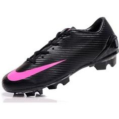 http://www.asneakers4u.com New Nike Mercurial SL Men Soccer Cleats In Black Pink cheap on saleOUT OF STOCK