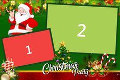 Template photobooth gratuit pentru Craciun (2 poze) Christmas Photo Booth, 1st Christmas, Christmas Photos, Christmas Ornaments, Photoshop Design, Templates, Mondays, Holiday Decor, Blog