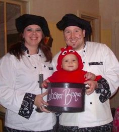 Chef & Baby Lobster Halloween Costume