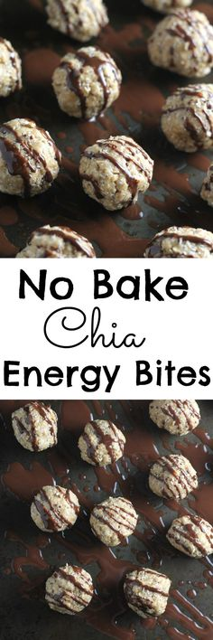 An easy no bake recipe for gluten free energy bites made with oats, nut butter and chia seeds 1 cup rolled oats; ½ cup nut butter (I used a mixture of peanut and cashew); Easy Baking Recipes, Raw Food Recipes, Snack Recipes, Cooking Recipes, Healthy Recipes, Dessert Recipes, Breakfast Recipes, Shrimp Recipes, Chi Seed Recipes