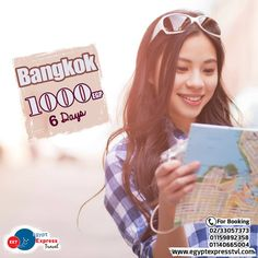 Bangkok - Thailand (6 Days) Rate Starting from 1000 EGP. per person in double room, Including: » Accommodation with breakfast. » No Hidden Fees. » Egypt Express Travel will assist you with visa entry. • We can offer you a special flight tickets rate upon your request dates. For Booking: ☎ 0233057373 ✆ 01159892358 - 01140665004 WhatsApp: 01159892358 • Rates will be able to changes with availability. #Bangkok #Winter #Thailand #Holidays #Asia