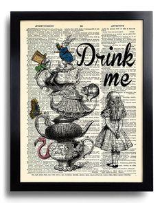 Alice in Wonderland Wall Art Poster Art Alice in by PrintsVariete