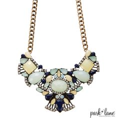One of my absolute favorites for Spring and Summer, the Lotus Blossom Necklace from Park Lane.  Understated elegance in opalescent aqua with crystal and navy accents that will take you from desk to dance floor.  www.parklanejewellery.ca/rep/ivkane