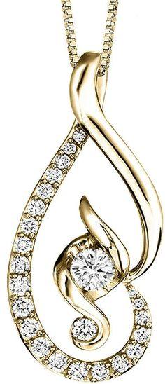 Sirena Juno Lucina 5/8 CT. T.W. Diamond 14K Yellow Gold Pendant Necklace