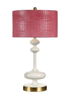 Mirabella Gardenia Lamp - Wildwood Lamps x x Would need different shade. To flank the coral lacquer pagoda chinoiserie mirror. Unique Lighting, Home Lighting, Pendant Lighting, I Love Lamp, Residential Lighting, Standard Lamps, Chandelier Lamp, Luxury Home Decor, Drum Shade