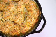 Chicken Pot Pie with Skillet Biscuits