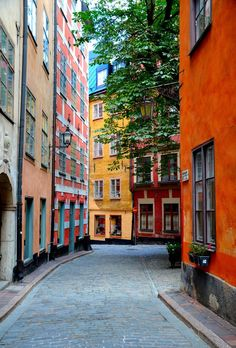 Gamla stan, Stockholm, Sweden. What a best place for pictures!