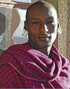 "accras: "" Handsome Maasai man — he is a work of art """