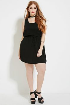 Plus Size Drawstring Dress   Forever 21 - 2000151396