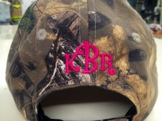 Dress your HaT with your Monogram college-graffiti.com