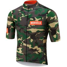 wiggle.com | Morvelo NTH Series Camo Short Sleeve Jersey Green/Brown L | Jerseys Cycling Outfit, Cycling Clothing, Race Wear, Online Bike Store, Camo Colors, Mtb Bicycle, Camo Shorts, Cycling Jerseys