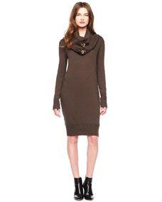 MICHAEL Michael Kors  Buckled-Turtleneck Sweaterdress