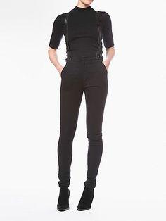 JAMES / ASPEN BLACK : Courtshop #highwaisted #blackdenim #suspenders #skinnies #courtshop
