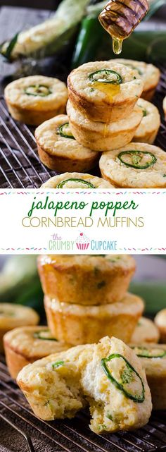 Jalapeno Popper Cornbread Muffins Kick up your cornbread game! These spicy, cheesy Jalapeno Popper Cornbread Muffins are the perfect side for fried chicken, chili, or just by themselves with a drizzle of honey! Tapas, Chili Cook Off, Cooking Chili, Jalapeno Poppers, Jalapeno Popper Chicken, Scones, Snacks, Fried Fish, Side Dish Recipes