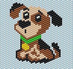Brick stitch Dog