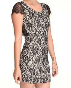 Open Back Lace Dress by DJP OUTLET @ DrJays.com