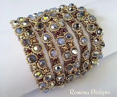 Indian Dream Crystal Bracelet Tutorial by RominaDesigns on Etsy