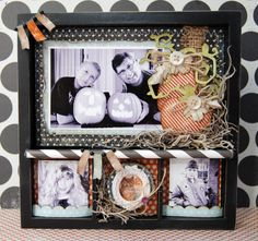 I altered this lil' printer's tray using MME papers and my Cricut Expression!