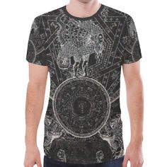 83a4f9054 Black Pullet Dark Gothic Underground Graphic Tee New All Over Print T-shirt  for Men (Model T45)
