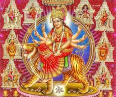 Durga is known by the name Adi Shakti, Maa Jagadamba, Amba in the whole world. Navratri Festival From October 2020 To October Read here. Durga Picture, Maa Durga Photo, Maa Durga Image, Durga Maa, Durga Goddess, Navratri Image Hd, Happy Navratri Images, Navratri Wishes