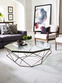 Marlow Geometric Coffee, The Khazana Home Austin Furniture Store
