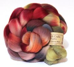 Merino Wool Top Kettle Dyed Roving  100gms M35 by Shunklies, £8.00