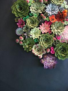 Succulent vertical garden felt plants »Miasole on Etsy