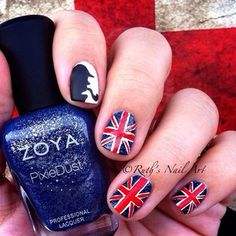 A salute to Sherlock: | 26 Incredibly Detailed Nail Art Designs from Buzzfeed. Must try the Union Jack.