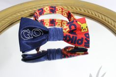 Pokemon Go Bow Tie with Pikachu Fabric and by AsherTailored