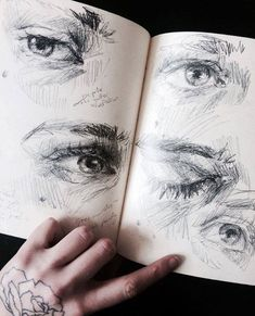 elly smallwood: Photo - - elly smallwood: Photo PORTRAIT Travel journal pages and scrapbook inspiration – ideas for travel journaling, art journaling, and scrapbooking. Drawing Sketches, Art Drawings, Pencil Drawings, Drawing Eyes, Sketching, Eye Sketch, Drawing Journal, Sketch Journal, Unique Drawings