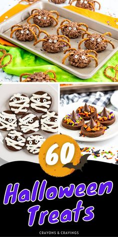 Over 60 of the best Halloween dessert ideas from cookies to cakes and everything inbetween! #Halloween