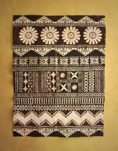 Fijian Masi (Tapa Cloths) - Tapa Cloths from The Pacific and Artwork Pattern Art, Print Patterns, Pattern Design, Cloth Patterns, Fijian Tattoo, Polynesian Art, Polynesian Designs, Polynesian Culture, Ocean Art