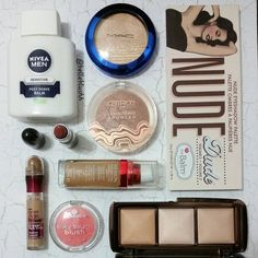 #MOTD  @Nivea Men Post Aftershave Balm as primer @revlonsa Age Defying Foundation in Toast @maybelline_sa Instant Age Rewind Concealer in Medium @hourglass Ambient Lighting Powder in Dim Light @thebalm_cosmetics Nude Dude palette @essence_ZA Silky Touch Blush in Life's a Cherry @CatriceSA Lumination Luminizing Bronzer  @maccosmetics Highlighter in Oh Darling and lipstick in Twig  #belleblushh #motd #makeupoftheday #makeup #makeuplover #makeupjunkie #makeupstash #instagood #instadaily…