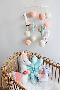 Succulent Pillow in Aqua Mint Cactus Nursery Succulent Boho Nursery, Nursery Room, Nursery Decor, Cowgirl Nursery, Mint Nursery, Bedroom, Llama Decor, Diy Bebe, Boho Baby