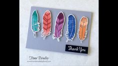 Just Add Colour - Feathers - Blends - Stampin' Up! - video tutorial - Fiona Bradley