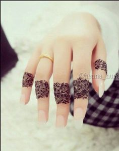 #mehendi #henna #art #design #fingers #lovely